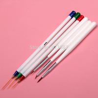 Pro Fashion 6pcs Acrylic Nail Brushes Tools Set Painting Drawing Dotting Pen Design New