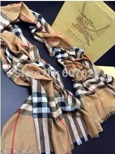 French explodes the classic plaid scarves apricot scarf explosion speed sell tong(China (Mainland))