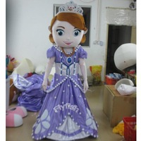 2014 hot sale Sofia Mascot Character Costume Cartoon Costumes Party Carnival Halloween Outfits EMS Free Shipping