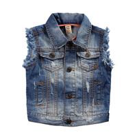 Child denim vest children's clothing 2014 spring and autumn baby waistcoat children top male child denim vest