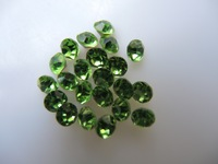 SS6 1440pcs Glass Point Back Rhinestone Peridot  Color Point Back Chatons Free Shipping