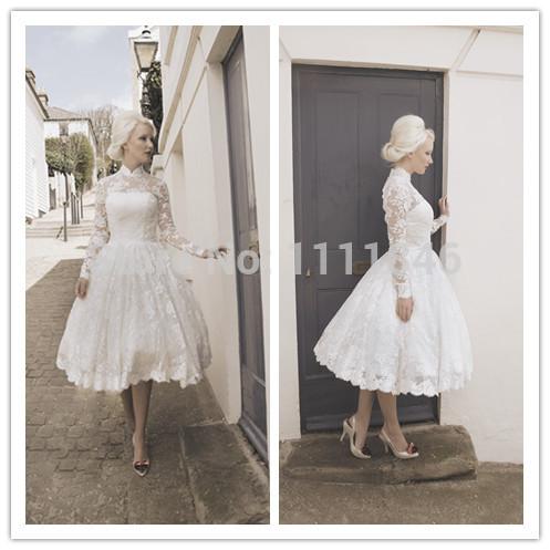 Off The Shoulder Lace Tea Length Wedding Dress Tea Length Wedding Dresses