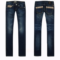 HOT!Free shipping wholesale Brand L jeans 2014 new fashion women designer pants low waist women straight leg jeans 98