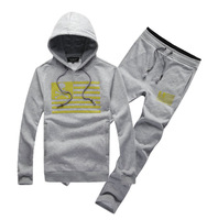 2014 Brand Hoodies+pants Set Male fashion brand pullover/zipper long sleeve autumn and winter 2 pcs/lot Suit M-XXL