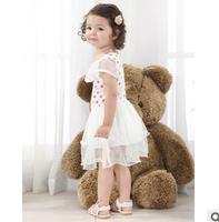 Children's summer Korean Girls Princess dress white dress the children breathe virgin dress retail ,free shipping high quality