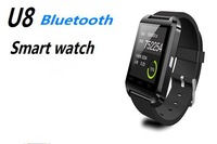 2014 New fashion Latest  for Android Phone bluetooth U8 men smart watch Electronic Sport Smart watch Android for iPhone Samsung