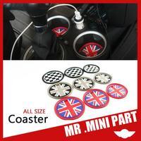 NEW 2014 Car Styling Mini One/Cooper/Countryman Slip Coasters / Storage Box Gasket Soft Silicone Cars Accessories  Union Jack