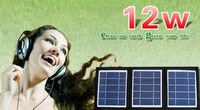 foldable solar charger with 12W solar panel,dual USB,easy carry,for camping,travel,outdoor using