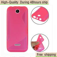 High Quality Soft TPU Gel S line Skin Cover Case For Nokia Asha 225 Free Shipping UPS DHL EMS CPAM HKPAM ew2