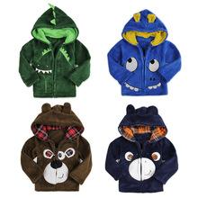 2014 Autumn Winter Cartoon Long-sleeve Brand Baby Clothing Little Monster Children Outerwear Hoodies Boy Coat Kids Jackets(China (Mainland))