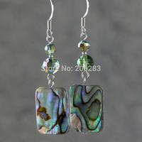 Jewelry earrings natural abalone shell crystal earring fashion vintage tassel drop earring