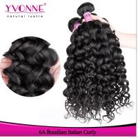 Grade 5A Cambodian Hair,4Pcs/lot Italian Curly Virgin Hair Extension,Aliexpress YVONNE Human Hair