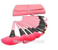 Professional Brushes No Logo OEM 24pcs set 3color Brushes Kits portable full Cosmetic brush tools Foundation Eyeshadow Lip brush