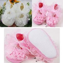 venta caliente nuevo lindo no- zapatos antideslizantes zapatos de bebé niño encaje de 2 colores caminantes primero niñas princesa vestido zapatos(China (Mainland))