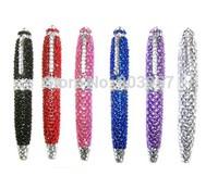 2014 Hot Free shipping(30pcs/lot) wholesale Fashion 10.5cm rhinestone school pen cute ball pen