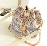 2014 High Quality Bolsas Femininas Women Messenger Bags Desigual Vintage Handbag Shoulder Bucket Bag Ladies Fashion Chian Canvas