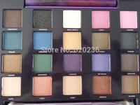 Hot 2014 new vice2 Makeup Glitter Eyeshadow Palette Cosmetics Latest 20color Brand eye shadow Brush Make up 10pcs/lot