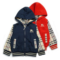 New arrival Free Shipping 5pcs/lot  fashion new 2014 spring autumn baby boys jackets kids coat children outerwear 2colors 3205