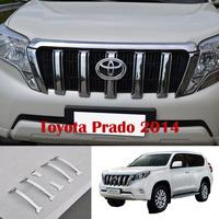 2014 FJ 150 2700/4000 Toyota Land Cruiser Prado Chrome Front Grille Cover Trims 6PCS