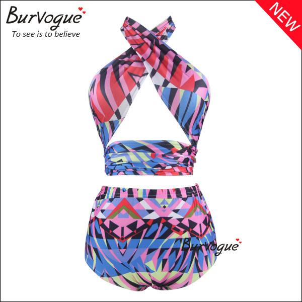 2014 sexy Vintage Push up bikinis set High Waist Bikinis RETRO Swimsuit Beach Wear for women bathing suit(China (Mainland))