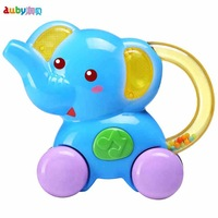 Auby Baby Toys Infant Rattles Mobile Elephant Strolling Musical & Lighting Electronic Cart Toys Brinquedos Educativos Para Bebes