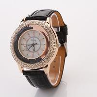 Koshi Fashion  Leather Strap Ladies Quartz WristWatch Women Dress Rhinestone Watches