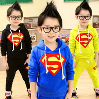 Spring And Autumn Hot Selling Boy Sport Suits Set Brand Suit Kids Boys Clothes With Yellow Red And Blue Free Shipping