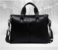 New Arrival 2014 Men's Briefcases Fashion Men Messenger Bags PU leather Business package Hot sale Black and Brown