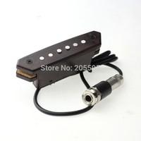 high quality wood color acoustic guitar adjustment volume tone soundhole pickup