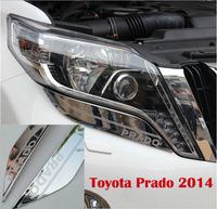 """2014 FJ 150 2700/4000 Toyota Land Cruiser Prado Front Lamp Cover Decoration Trims With """"Prado"""" Words"""