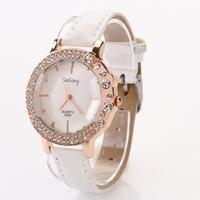 Koshi Fashion Ladies Leather Crystal Diamond Rhinestone Watches Women Dress Quartz Wristwatch