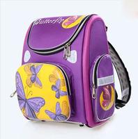 Free Shipping 2014 new orthopedic backpack children school bags Purple Butterfly kids backpack mochila infantil wholesale