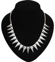 EUN120 Top Quality Guarantee Euramerican Personality Cone Punk Statement Necklaces Pendants