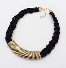 N154 Hand woven beaded collar necklaces choker statement necklace women fashion brand jewelry wholesale