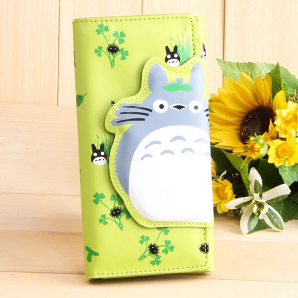 2014 hot explosion models Cute Green my neighbor totoro wallet cartoon wallet women long cute animals printed walle(China (Mainland))
