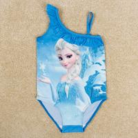 Frozen children swimwear new 2014 summer Elsa pricess swimsuit for girls nova baby summer swimwear for girl RD1