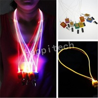 Free Shipping 10pcs/lot Led Flashing Lanyard for Employee Badges and ID Card, Seven Colors Available.