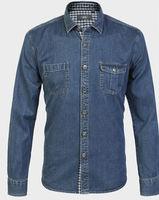 New 2014  Brand   fashion  Casual slim fit shirt  long sleeve 100%cotton   jeans camisa  HL7501-3 XS S M L XL XXL XXXL