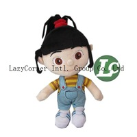 5pcs/lot Wholesale Despicable Me Little Girl Plush 35cm High Quality Plush Doll Toy Free Shipping