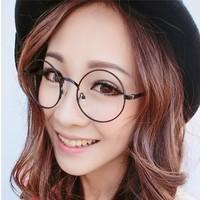 2014 Black Glass New Adult Polarized Retro Glasses Frames Decorative Metal Harajuku Male And Female Models , Prince Plain Tide