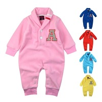 FBT 2014 New Arrivals Newborn Baby Clothes Baby Rompers Long Sleeve Warm Fleece One-Piece roupas para bebe macacao bebe