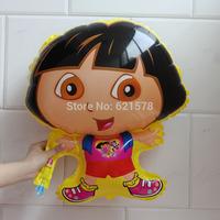 20pcs/lot good quality  51*73cm medium size Dora balloons for baby birthday party cartoon helium balloon Aluminium foil balloon