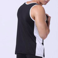 Summer undershirt Quick-Drying Men's Sports Vest Loose Tank Tops Shirts Solid Low Waist WJ 3008-BX 6 Colors 4 Sizes