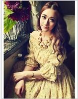 wholesale 2014 Summer chiffon floor-length dress women swing hem dress