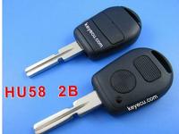 BRAND NEW Replacement Shell Remote Key Case for BM-W 1980-2002 Z3 M5 750iL 740iL 540i etc Fob 2 Button Uncut HU58