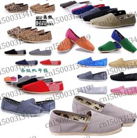 FREE shipping 2014 brand Unisex new women and men canvas shoes  Stripe flats loafers casual single shoes solid sneakers shoes