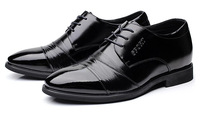 36-42 High quality Brand Business BLACK Men genuine leather Flats shoes HOT SELL sapatos masculinos shoelace sapato social shoes