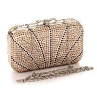 Free Shipping! 2014 New! Temperament Outstanding Czech Rhinestone Evening Bags with Chain Fashion Women Evening Clutch Bag,3019