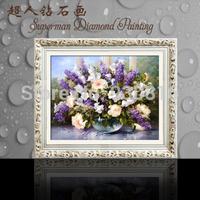 New 2014 Needlework DIY Diamond Painting Cross Stitch Sewing Knitting Needles Diamond Embroidery Vase Flower sixteen