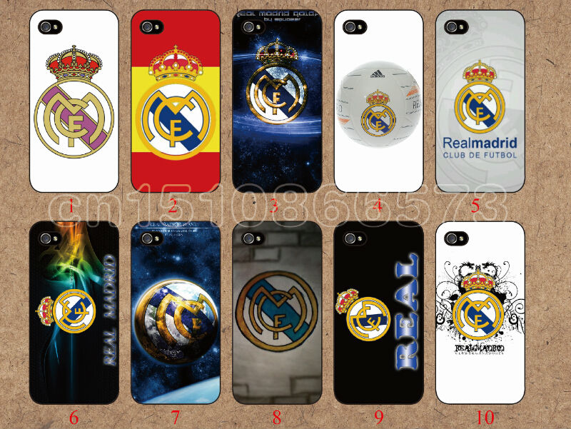 2014 New hot 10pcs/lots wholesale football team Real Madrid hard case cover for iphone 4 4G 4S free shipping mobile phone(China (Mainland))